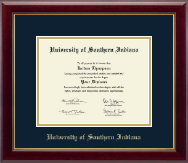 University of Southern Indiana Diploma Frame - Gold Embossed Diploma Frame in Gallery
