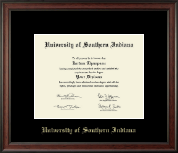University of Southern Indiana Diploma Frame - Gold Embossed Diploma Frame in Studio