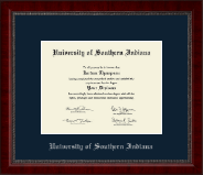 University of Southern Indiana Diploma Frame - Silver Embossed Diploma Frame in Sutton