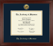 The Academy @ Shawnee in Kentucky Diploma Frame - Gold Engraved Medallion Diploma Frame in Sierra