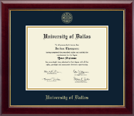 University of Dallas Diploma Frame - Gold Embossed Diploma Frame in Gallery