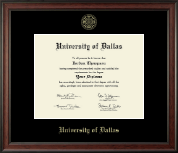 University of Dallas Diploma Frame - Gold Embossed Diploma Frame in Studio