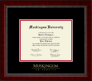 Muskingum University Diploma Frame - Gold Embossed Diploma Frame in Sutton