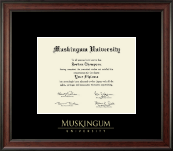 Muskingum University Diploma Frame - Gold Embossed Diploma Frame in Studio