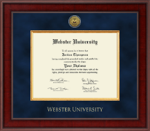 Webster University Diploma Frame - Presidential Gold Engraved Diploma Frame in Jefferson