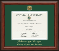 University of Oregon Diploma Frame - Gold Engraved Medallion Diploma Frame in Lancaster