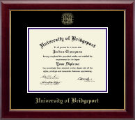 University of Bridgeport Diploma Frame - Gold Embossed Diploma Frame in Gallery