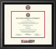 Southern Oregon University Diploma Frame - Dimensions Diploma Frame in Midnight