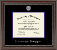 University of Bridgeport Diploma Frame - Masterpiece Medallion Diploma Frame in Chateau