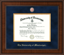 The University of Mississippi Diploma Frame - Presidential Masterpiece Diploma Frame in Madison