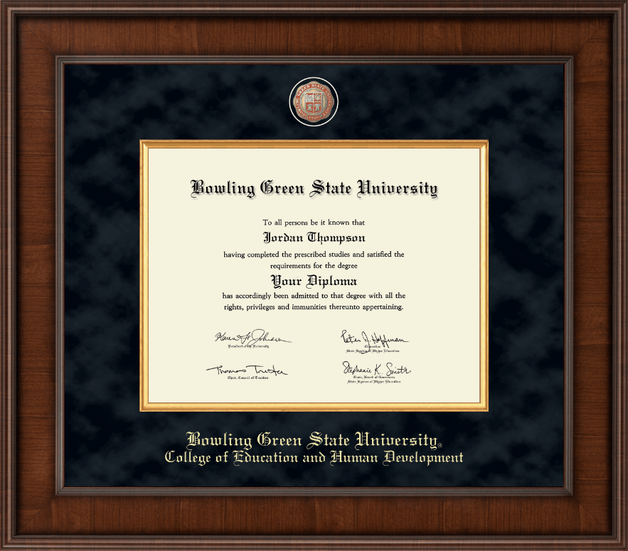 Bowling Green State University Presidential Masterpiece Diploma ...