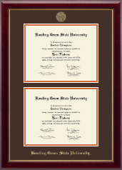 Bowling Green State University Diploma Frame - Double Diploma Frame in Gallery
