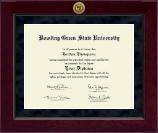 Bowling Green State University Diploma Frame - Millennium Gold Engraved Diploma Frame in Cordova