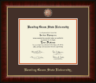 Bowling Green State University Diploma Frame - Masterpiece Medallion Diploma Frame in Murano