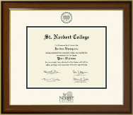 St. Norbert College Diploma Frame - Dimensions Diploma Frame in Westwood