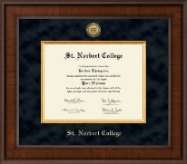St. Norbert College Diploma Frame - Presidential Gold Engraved Diploma Frame in Madison