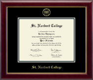 St. Norbert College Diploma Frame - Gold Embossed Diploma Frame in Gallery