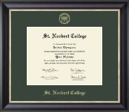 St. Norbert College Diploma Frame - Gold Embossed Diploma Frame in Noir
