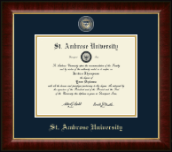 Saint Ambrose University Diploma Frame - Masterpiece Medallion Diploma Frame in Murano