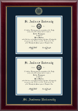 Saint Ambrose University Diploma Frame - Double Diploma Frame in Gallery