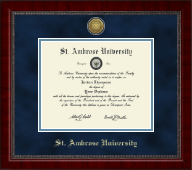 Saint Ambrose University Diploma Frame - Gold Engraved Medallion Diploma Frame in Sutton
