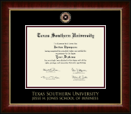 Texas Southern University Diploma Frame - Masterpiece Medallion Diploma Frame in Murano