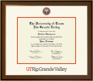 The University of Texas Rio Grande Valley Diploma Frame - Dimensions Diploma Frame in Westwood