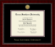Texas Southern University Diploma Frame - Gold Engraved Medallion Diploma Frame in Sutton