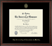 The University of Tennessee Martin Diploma Frame - Gold Embossed Diploma Frame in Studio