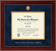 The University of Tennessee Martin Diploma Frame - Presidential Brass Masterpiece Diploma Frame in Jefferson