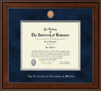 The University of Tennessee Martin Diploma Frame - Presidential Pewter Masterpiece Diploma Frame in Madison