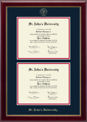 St. John's University, New York Diploma Frame - Double Diploma Frame in Gallery