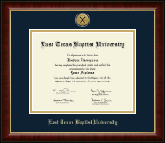East Texas Baptist University Diploma Frame - Gold Engraved Medallion Diploma Frame in Murano