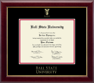 Ball State University Diploma Frame - Gold Embossed Diploma Frame in Gallery