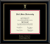 Ball State University Diploma Frame - Gold Embossed Diploma Frame in Onyx Gold