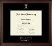Ball State University Diploma Frame - Gold Embossed Diploma Frame in Studio