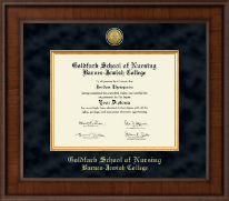 Goldfarb School of Nursing Barnes-Jewish College Diploma Frame - Presidential Gold Engraved Diploma Frame in Madison