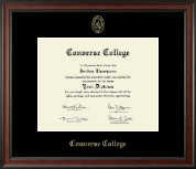 Converse College Diploma Frame - Gold Embossed Diploma Frame in Studio
