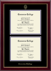 Converse College Diploma Frame - Double Diploma Frame in Gallery