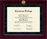 Converse College Diploma Frame - Millennium Gold Engraved Diploma Frame in Cordova