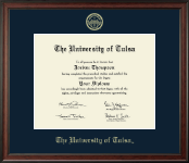 The University of Tulsa Diploma Frame - Gold Embossed Diploma Frame in Studio