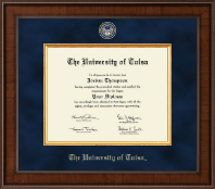 The University of Tulsa Diploma Frame - Presidential Masterpiece Diploma Frame in Madison