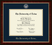 The University of Tulsa Diploma Frame - Masterpiece Medallion Diploma Frame in Murano