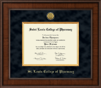 Saint Louis College of Pharmacy Diploma Frame - Presidential Gold Engraved Diploma Frame in Madison
