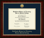 Goldfarb School of Nursing Barnes-Jewish College Diploma Frame - Gold Engraved Medallion Diploma Frame in Murano