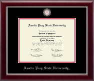 Austin Peay State University Diploma Frame - Masterpiece Medallion Diploma Frame in Gallery Silver
