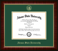 Adams State University  Diploma Frame - Gold Embossed Diploma Frame in Murano