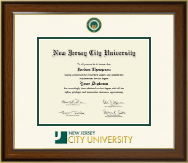 New Jersey City University Diploma Frame - Dimensions Diploma Frame in Westwood