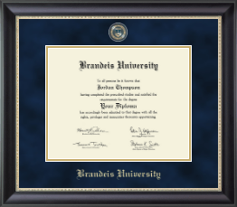 Brandeis University Diploma Frames Church Hill Classics