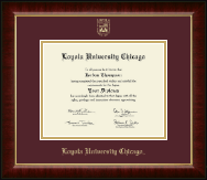 Loyola University Chicago Diploma Frame - Gold Embossed Diploma Frame in Murano